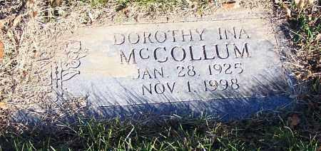 MCCOLLUM, DOROTHY INA - Stark County, Ohio | DOROTHY INA MCCOLLUM - Ohio Gravestone Photos