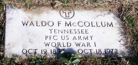 MCCOLLUM, WALDO F.   (MIL) - Stark County, Ohio | WALDO F.   (MIL) MCCOLLUM - Ohio Gravestone Photos