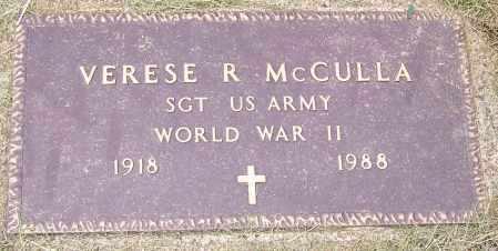 MCCULLA, VERESE R.   (MIL) - Stark County, Ohio | VERESE R.   (MIL) MCCULLA - Ohio Gravestone Photos