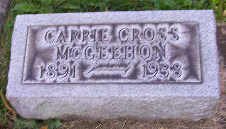 MCGEEHON, CARRIE CROSS - Stark County, Ohio | CARRIE CROSS MCGEEHON - Ohio Gravestone Photos