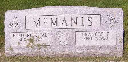 MCMANIS, FRANCES F. - Stark County, Ohio | FRANCES F. MCMANIS - Ohio Gravestone Photos