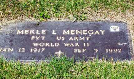 MENEGAY, MERLE L. - Stark County, Ohio | MERLE L. MENEGAY - Ohio Gravestone Photos