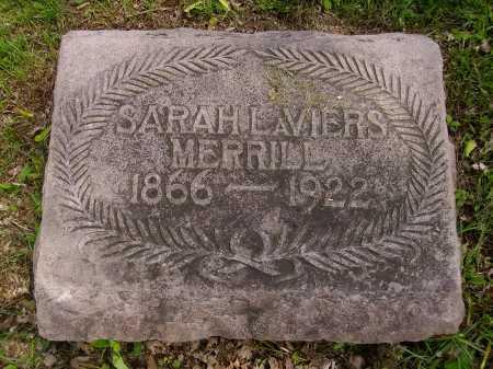 LAVIERS MERRILL, SARAH - Stark County, Ohio | SARAH LAVIERS MERRILL - Ohio Gravestone Photos