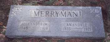 MERRYMAN, ALEXANDER W. - Stark County, Ohio | ALEXANDER W. MERRYMAN - Ohio Gravestone Photos
