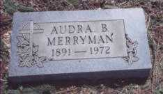 MERRYMAN, AUDRA B. - Stark County, Ohio | AUDRA B. MERRYMAN - Ohio Gravestone Photos