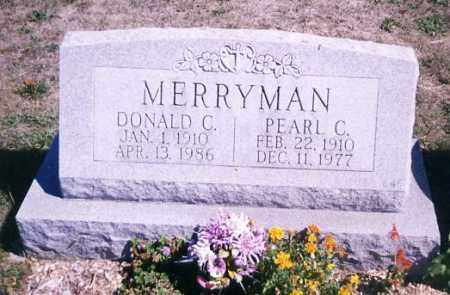 MERRYMAN, DONALD C. - Stark County, Ohio | DONALD C. MERRYMAN - Ohio Gravestone Photos