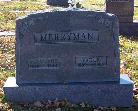 MERRYMAN, MARY JANE - Stark County, Ohio | MARY JANE MERRYMAN - Ohio Gravestone Photos