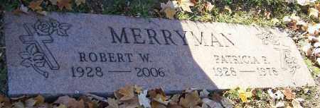 MERRYMAN, ROBERT W. - Stark County, Ohio | ROBERT W. MERRYMAN - Ohio Gravestone Photos