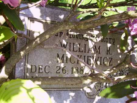 MICKIEWICZ, WILLIAM R. - FIRST VIEW - Stark County, Ohio | WILLIAM R. - FIRST VIEW MICKIEWICZ - Ohio Gravestone Photos