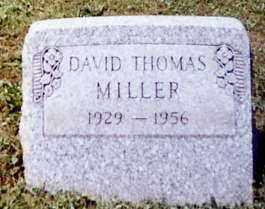 MILLER, DAVID THOMAS - Stark County, Ohio | DAVID THOMAS MILLER - Ohio Gravestone Photos
