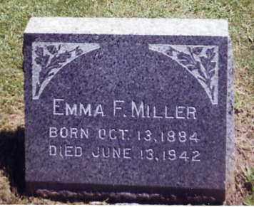 MILLER, EMMA F. - Stark County, Ohio | EMMA F. MILLER - Ohio Gravestone Photos