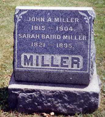 MILLER, SARAH BAIRD - Stark County, Ohio | SARAH BAIRD MILLER - Ohio Gravestone Photos