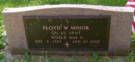 MINOR, FLOYD W.   (MIL) - Stark County, Ohio | FLOYD W.   (MIL) MINOR - Ohio Gravestone Photos