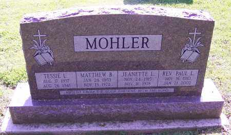MOHLER, PAUL L. (REV) - Stark County, Ohio | PAUL L. (REV) MOHLER - Ohio Gravestone Photos