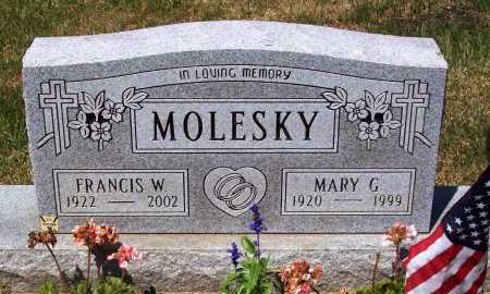 HOOVER MOLESKY, MARY G. - Stark County, Ohio | MARY G. HOOVER MOLESKY - Ohio Gravestone Photos