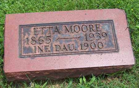 MOORE, ETTA - Stark County, Ohio | ETTA MOORE - Ohio Gravestone Photos