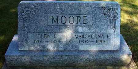MOORE, MARCALEINA F. - Stark County, Ohio | MARCALEINA F. MOORE - Ohio Gravestone Photos