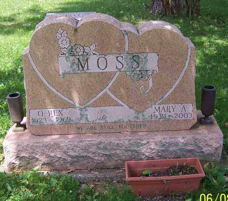 MOSS, MARY A. - Stark County, Ohio | MARY A. MOSS - Ohio Gravestone Photos