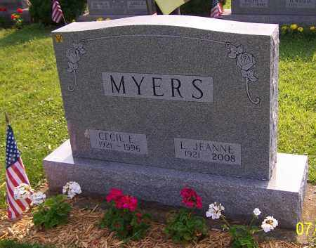 MYERS, L. JEANNE - Stark County, Ohio | L. JEANNE MYERS - Ohio Gravestone Photos