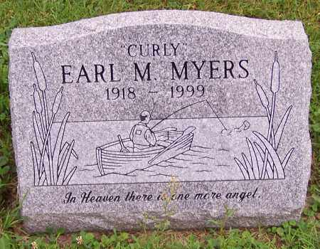 MYERS, EARL M.  'CURLY' - Stark County, Ohio | EARL M.  'CURLY' MYERS - Ohio Gravestone Photos