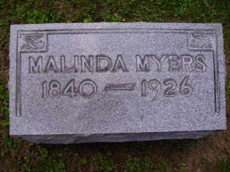 MYERS, MALINDA - Stark County, Ohio | MALINDA MYERS - Ohio Gravestone Photos