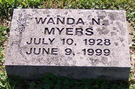 MYERS, WANDA N. - Stark County, Ohio | WANDA N. MYERS - Ohio Gravestone Photos
