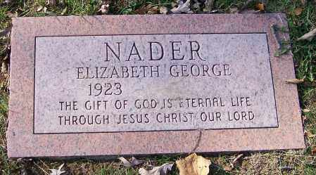 NADER, ELIZABETH GEORGE - Stark County, Ohio | ELIZABETH GEORGE NADER - Ohio Gravestone Photos