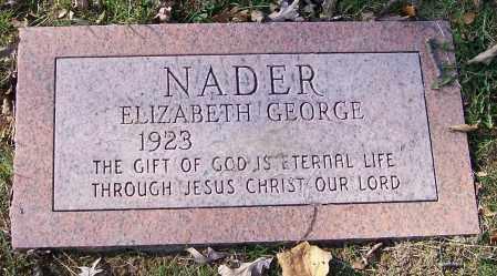 NADER, ELIZABETH GEORGE - Stark County, Ohio | ELIZABETH GEORGE NADER - Ohio Gravestone Photos