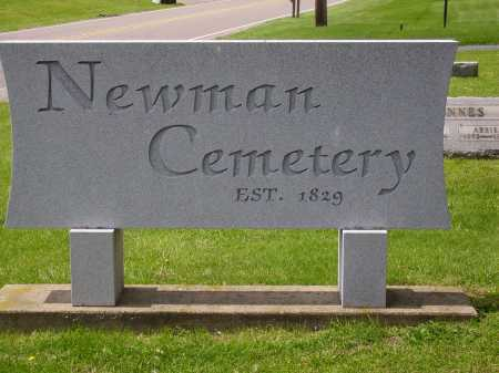 NEWMAN CEMETERY, SIGN - Stark County, Ohio | SIGN NEWMAN CEMETERY - Ohio Gravestone Photos