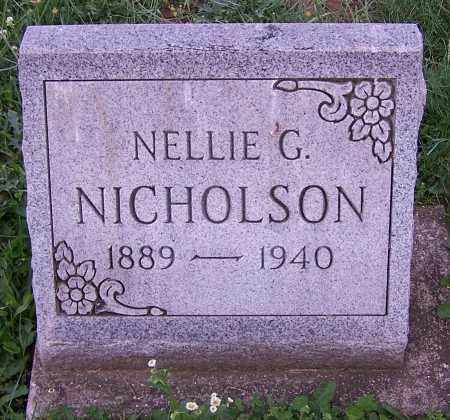 NICHOLSON, NELLIE G. - Stark County, Ohio | NELLIE G. NICHOLSON - Ohio Gravestone Photos