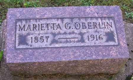 OBERLIN, MARIETTA G. - Stark County, Ohio | MARIETTA G. OBERLIN - Ohio Gravestone Photos