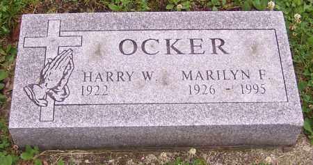 OCKER, MARILYN F. - Stark County, Ohio | MARILYN F. OCKER - Ohio Gravestone Photos