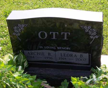 OTT, ARCHIE B. - Stark County, Ohio | ARCHIE B. OTT - Ohio Gravestone Photos