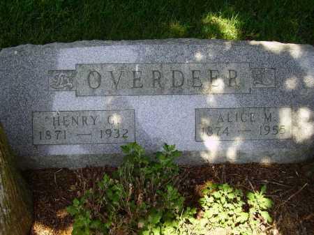 OVERDEER, HENRY GILMORE - Stark County, Ohio | HENRY GILMORE OVERDEER - Ohio Gravestone Photos