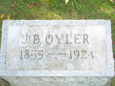 OYLER, J B - Stark County, Ohio | J B OYLER - Ohio Gravestone Photos