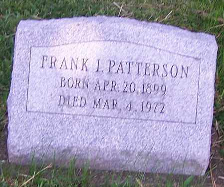 PATTERSON, FRANK I. - Stark County, Ohio | FRANK I. PATTERSON - Ohio Gravestone Photos