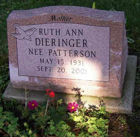 PATTERSON, RUTH ANN DIERINGER NEE - Stark County, Ohio | RUTH ANN DIERINGER NEE PATTERSON - Ohio Gravestone Photos