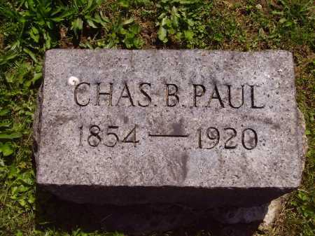 PAUL, CHARLES B. - Stark County, Ohio | CHARLES B. PAUL - Ohio Gravestone Photos