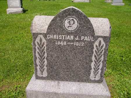 PAUL, CHRISTIAN J. - Stark County, Ohio | CHRISTIAN J. PAUL - Ohio Gravestone Photos