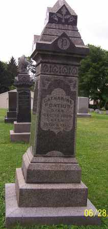 PONTIUS, CATHARINE - Stark County, Ohio | CATHARINE PONTIUS - Ohio Gravestone Photos