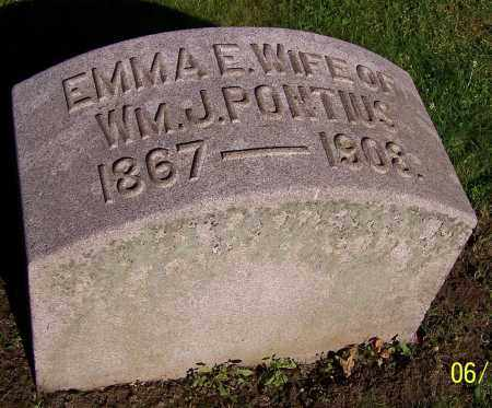 PONTIUS, EMMA E. - Stark County, Ohio | EMMA E. PONTIUS - Ohio Gravestone Photos
