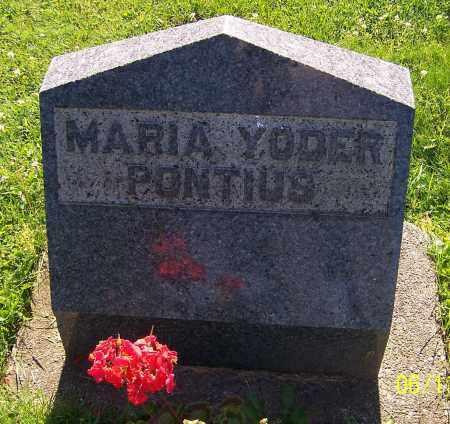 PONTIUS, MARIA YODER - Stark County, Ohio | MARIA YODER PONTIUS - Ohio Gravestone Photos