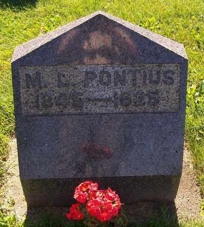 PONTIUS, M.L. - Stark County, Ohio | M.L. PONTIUS - Ohio Gravestone Photos