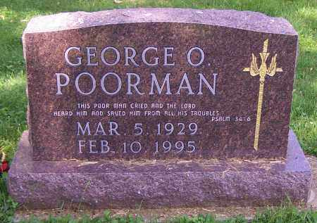 POORMAN, GEORGE O. - Stark County, Ohio | GEORGE O. POORMAN - Ohio Gravestone Photos