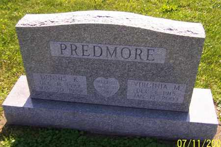PREDMORE, VIRGINIA M. - Stark County, Ohio | VIRGINIA M. PREDMORE - Ohio Gravestone Photos