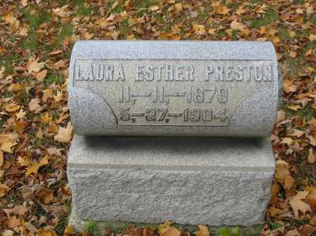 PRESTON, LAURA ESTHER - Stark County, Ohio | LAURA ESTHER PRESTON - Ohio Gravestone Photos