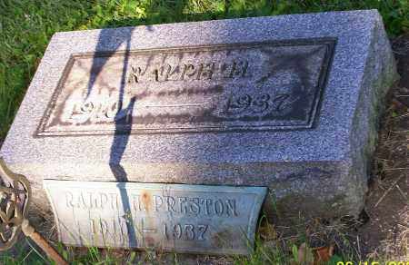 PRESTON, RALPH H. - Stark County, Ohio | RALPH H. PRESTON - Ohio Gravestone Photos