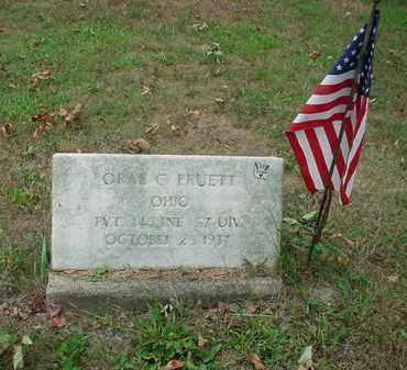 PRUETT, ORAL C - Stark County, Ohio   ORAL C PRUETT - Ohio Gravestone Photos