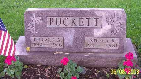 PUCKETT, DILLARD A. - Stark County, Ohio | DILLARD A. PUCKETT - Ohio Gravestone Photos