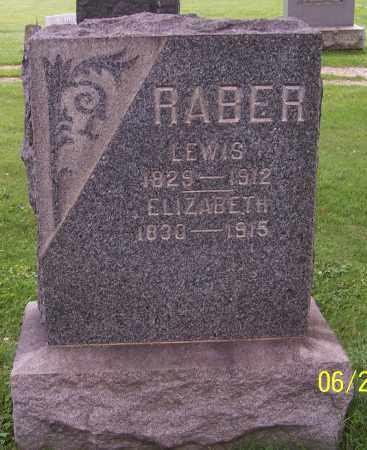RABER, ELIZABETH - Stark County, Ohio | ELIZABETH RABER - Ohio Gravestone Photos
